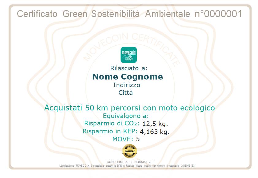 Certificato Green da 50km