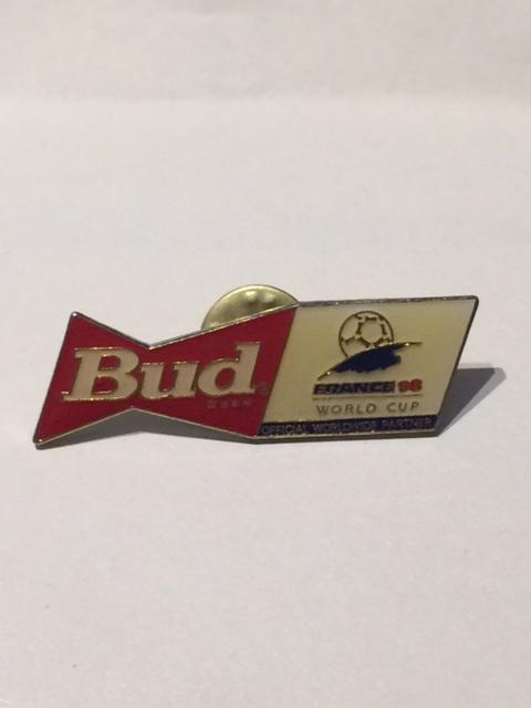 """Pin spilla """"Bud"""", la birra sponsor dei Campionati del Mondo di Calcio France 1998 - 1 -"""