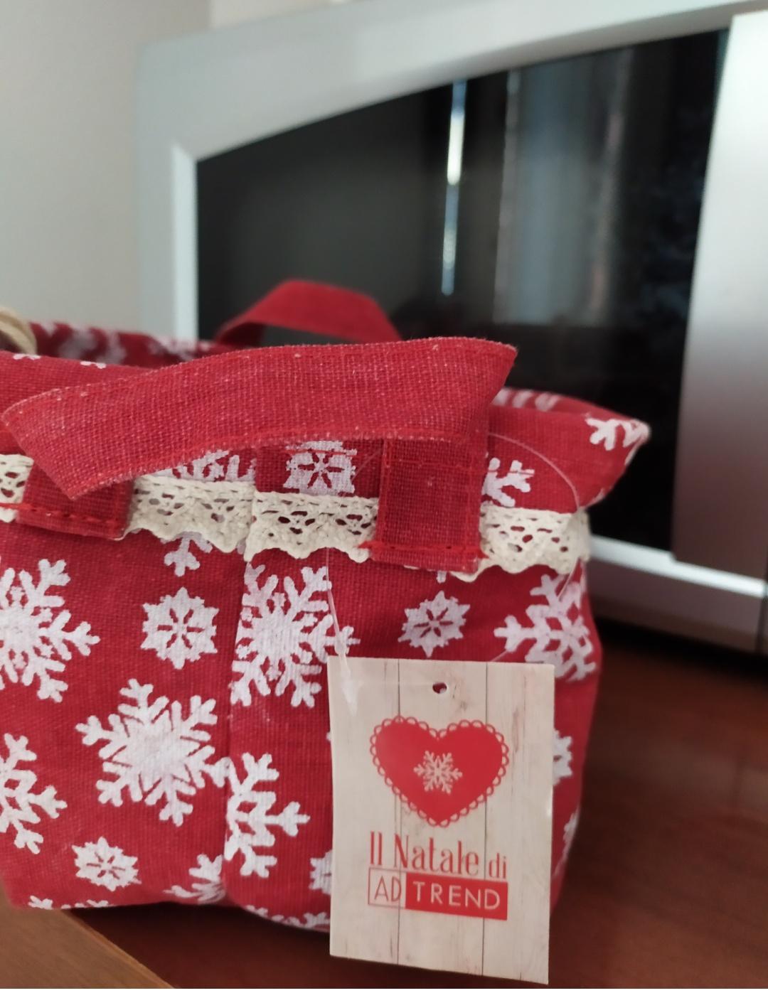 Cestino portaoggetti con decori natalizi - 2 -