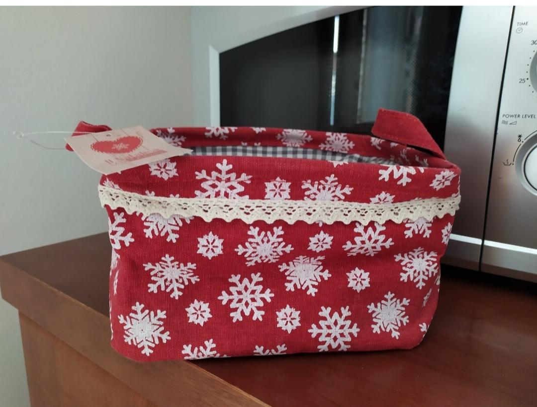 Cestino portaoggetti con decori natalizi - 1 -