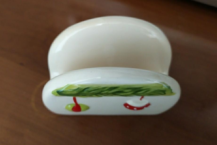 Portatovaglioli natalizio in ceramica - 2 -