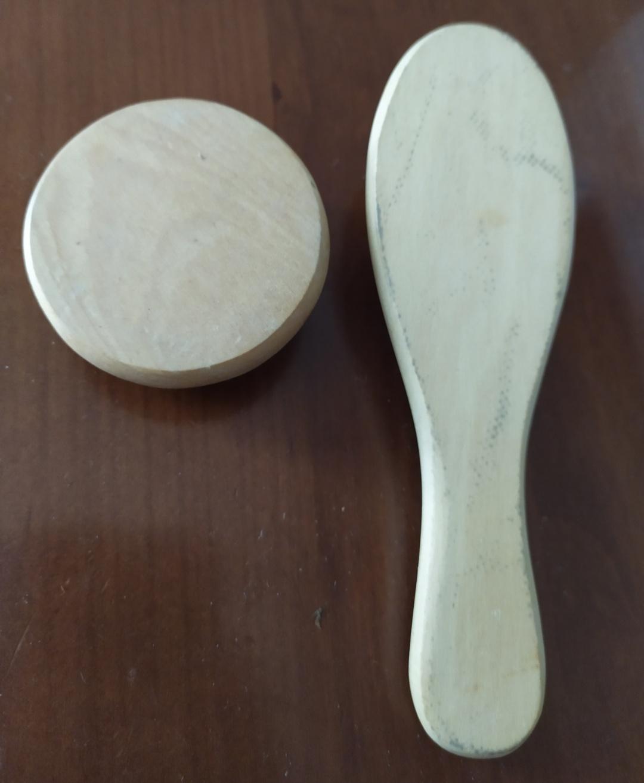 Spazzola per capelli bimbi (+ accessorio) in legno - 2 -