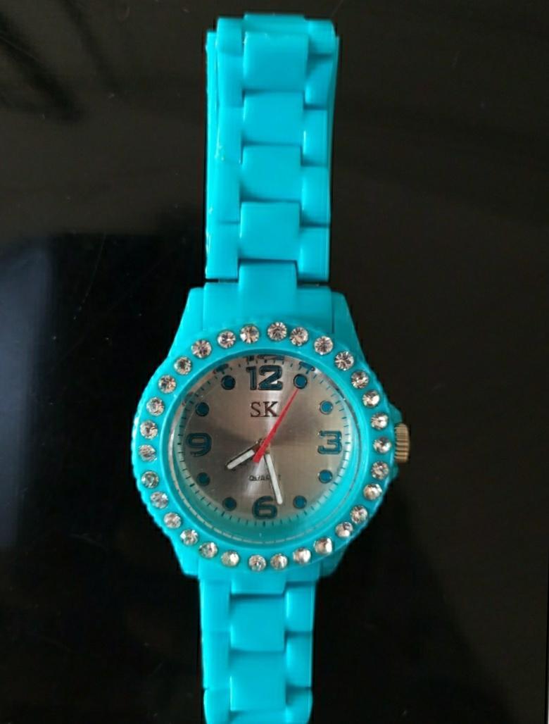 Bracciale orologio con brillantini - 2 -