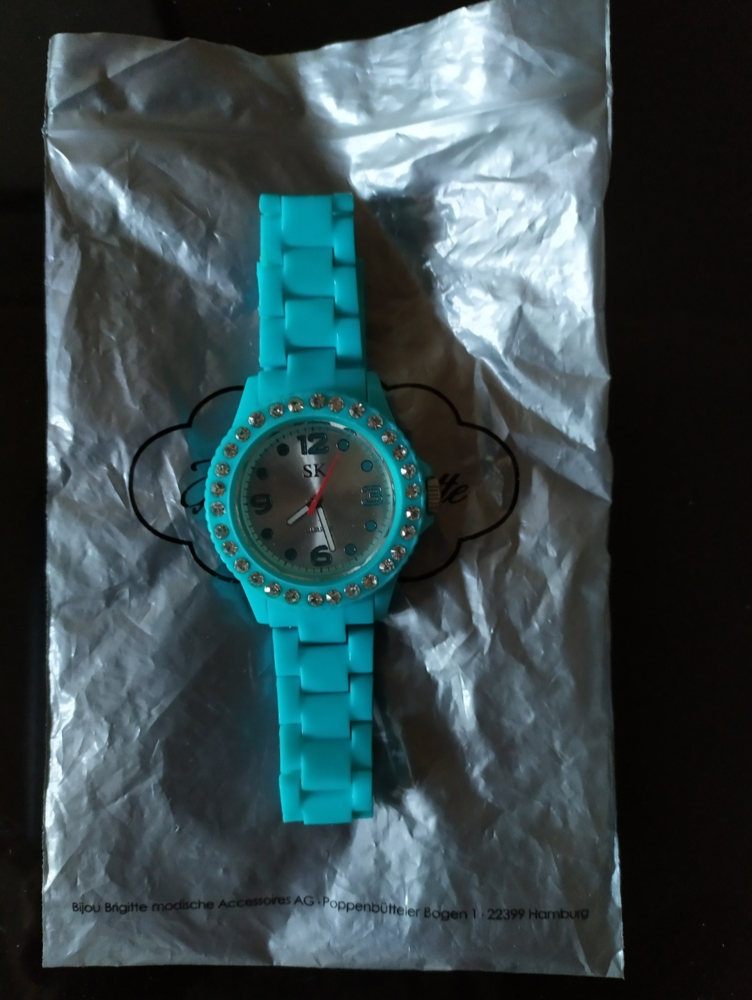 Bracciale orologio con brillantini - 1 -