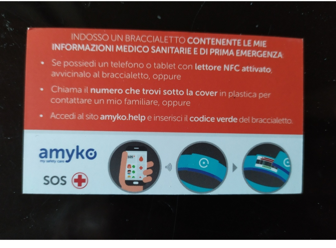 Amyko bracciale salvavita con tecnologia NFC - 4 -