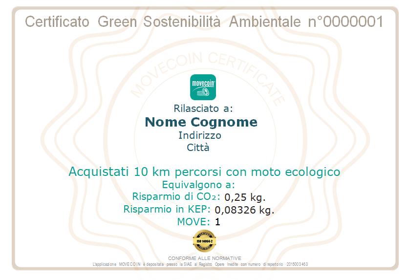 Certificato Green da 10 km - 1 -